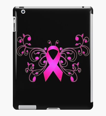 Breast Cancer Butterfly Ribbon iPad Case/Skin