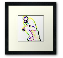 Thinker Pop Framed Print