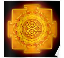 Golden Sri Yantra - Artwork 1 Poster