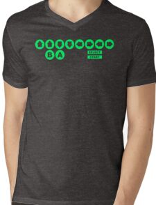 Retro Game Cheat Code Mens V-Neck T-Shirt