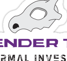 Lavender Town - Paranormal Investigator Sticker