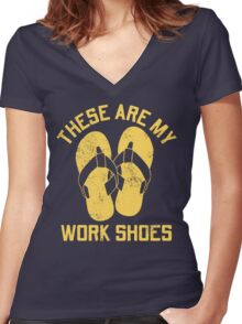 My Work Shoes Women's Fitted V-Neck T-Shirt