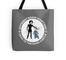 Different Roads Sometimes Lead To The Same Castle Tote Bag