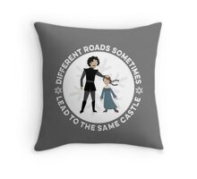 Different Roads Sometimes Lead To The Same Castle Throw Pillow