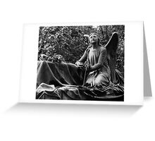 Angel with grave Greeting Card