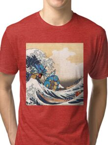Great Wave of Gyarados Tri-blend T-Shirt
