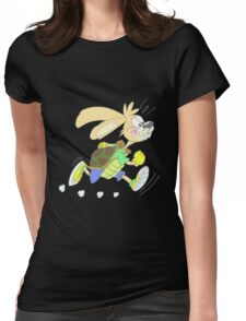 Hare or tortoise Womens Fitted T-Shirt