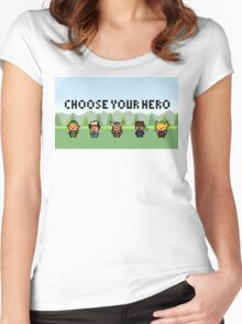 Choose your hero Women's Fitted Scoop T-Shirt