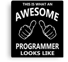 This is What an Awesome Programmer Looks Like - Programming Canvas Print