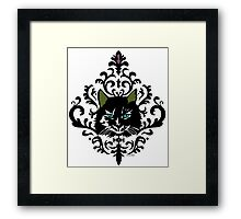cat nap damask Framed Print