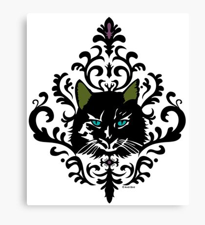 cat nap damask Canvas Print