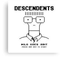 Milo Goes 8 Bit Canvas Print