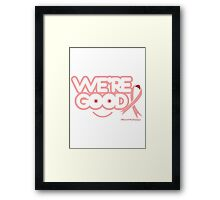 Breast Cancer Awareness Graphic Tee 1 Framed Print