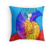 Nautilus Muse Throw Pillow