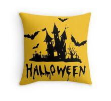 Dark Halloween Throw Pillow