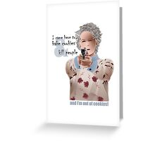 Carol is out of cookies! Greeting Card