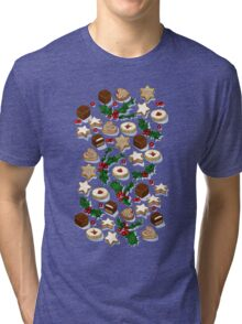 Christmas Treats and Cookies Tri-blend T-Shirt