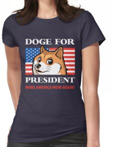 Doge For President Womens Fitted T-Shirt