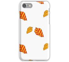 pattern with orange autumn leaves iPhone Case/Skin