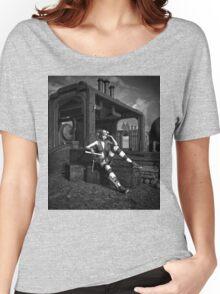 Steampunk Blaze BW Women's Relaxed Fit T-Shirt