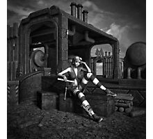 Steampunk Blaze BW Photographic Print