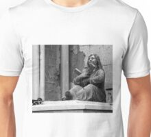 female statue with cross Unisex T-Shirt