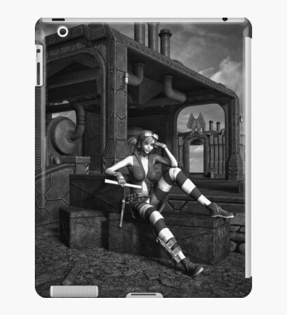 Steampunk Blaze BW iPad Case/Skin