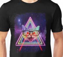 Laser Eyes Space Cat  Unisex T-Shirt