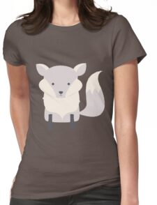 Polar baby fox Womens Fitted T-Shirt