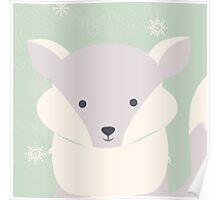 Polar baby fox Poster