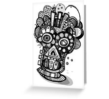 Day of The Dead Mask  Greeting Card