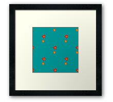 pattern with orange autumn leaves Framed Print