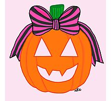 Pumpkin with a Bow Photographic Print