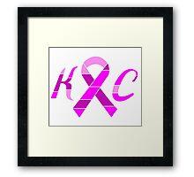 KC Breast Cancer Awareness Framed Print