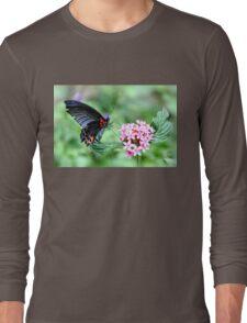 Scarlet Swallowtail (female) Long Sleeve T-Shirt
