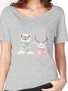Two hipster polar bears Women's Relaxed Fit T-Shirt