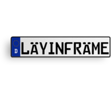 Euro Plate - LAYINFRAME Canvas Print