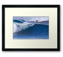 Surfer At Banzai Pipeline 2011 Framed Print