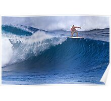 Surfer At Banzai Pipeline 2011 Poster