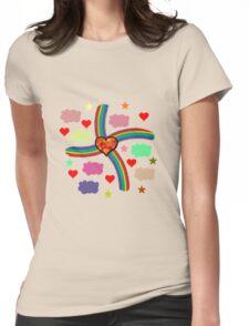 Rainbow Love Utopia Womens Fitted T-Shirt
