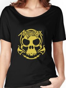 Anthrax Band Skull Women's Relaxed Fit T-Shirt