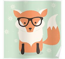 Hipster fox Poster