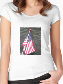Flag For Fallen Soldier Women's Fitted Scoop T-Shirt