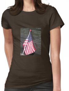 Flag For Fallen Soldier Womens Fitted T-Shirt