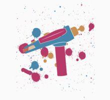 Phaser Paint Splatter (Full Color) Kids Tee
