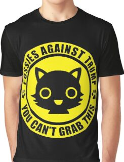 Pussies Against Trump YELLOW Graphic T-Shirt