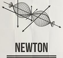 Newton - Mathematician Posters by Hydrogene