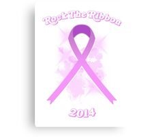 Breast Cancer Awareness Graphic Tee 3 Canvas Print