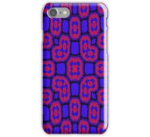 Blue red trendy pattern iPhone Case/Skin