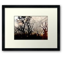 Night Brush Framed Print